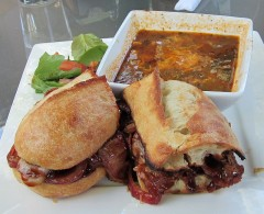 BBQ Brisket Sandwich with Soup of the Day (Beef Vegetable)