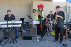 Casualz play at Cinco De Mayo Celebration. Outstanding jazz/blues quartet.