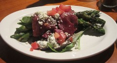 Grilled Prosciutto-Wrapped Asparagus with Gorgonzola