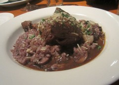 Slow-braised duck risotto