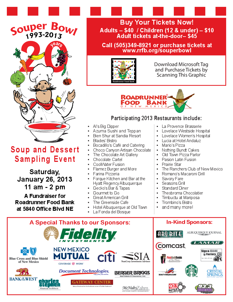 2013 Souper Bowl Participa