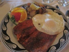 Blackened Trout Breakfast with Eggs