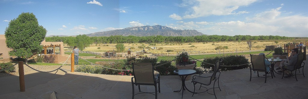 Sandias from the patio