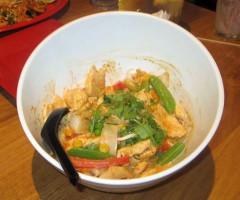 Red Curry Rice Bowl with Chicken