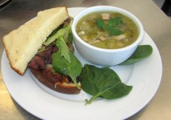 Meat Loaf Sand and Cabbage bacon white bean soup