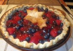 Pamela Jackson's Strawberry Blueberry Pie