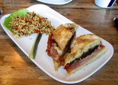 Muffaletta with Orzo Salad