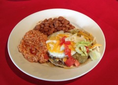 <b>Beef Enchilada with Egg</b>