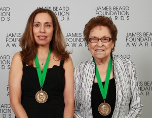 Antionette and Mary wearing James Beard Medals