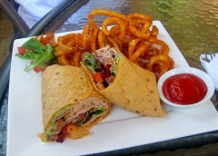Chipotle Turkey Wrap with Curly Fries