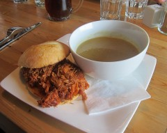 Pulled Pork with Potato Lwwk Soup