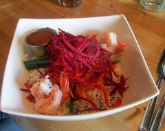 The Prawn Salad with Beets