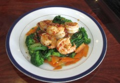 Spicy Shrimp with Pea Tips