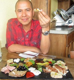 Don James eats well at M'Tucci's Deli