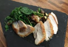 Grilled chicken with root vegetables